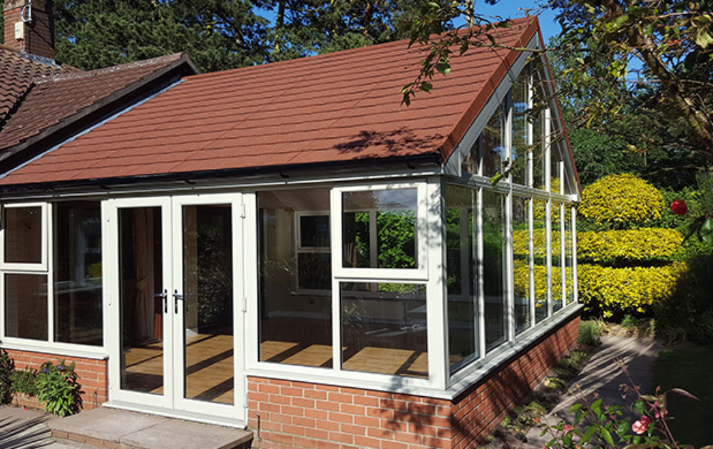 Conservatory tiled roof in Kent