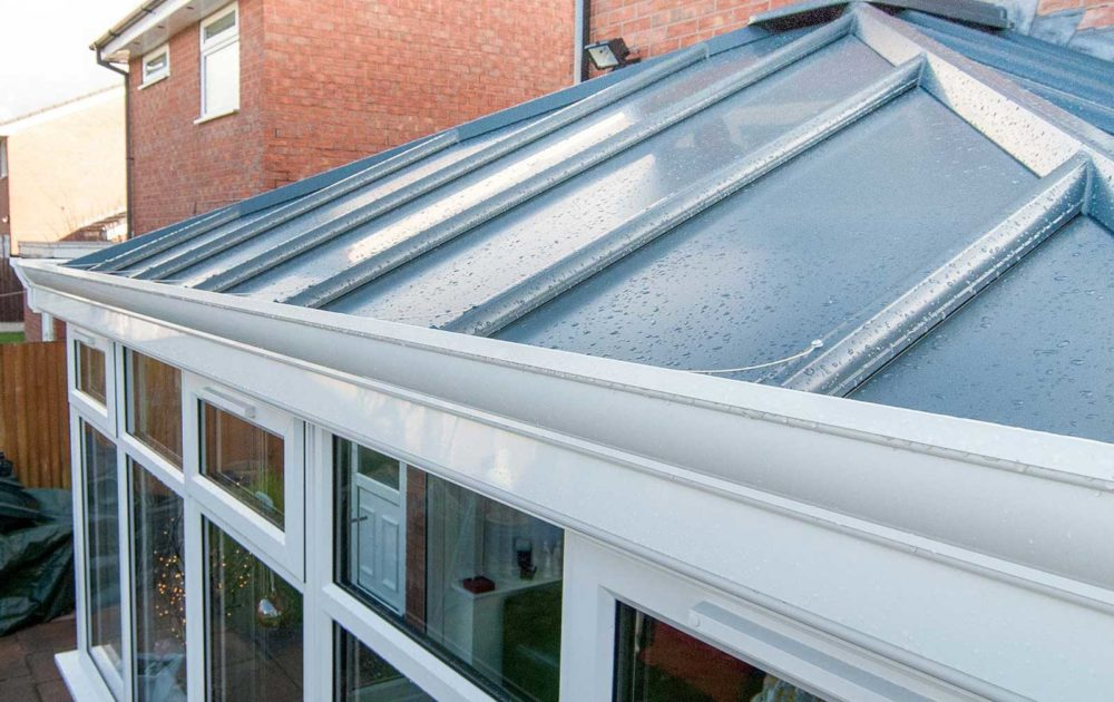 Glass conservatory roof in Kent